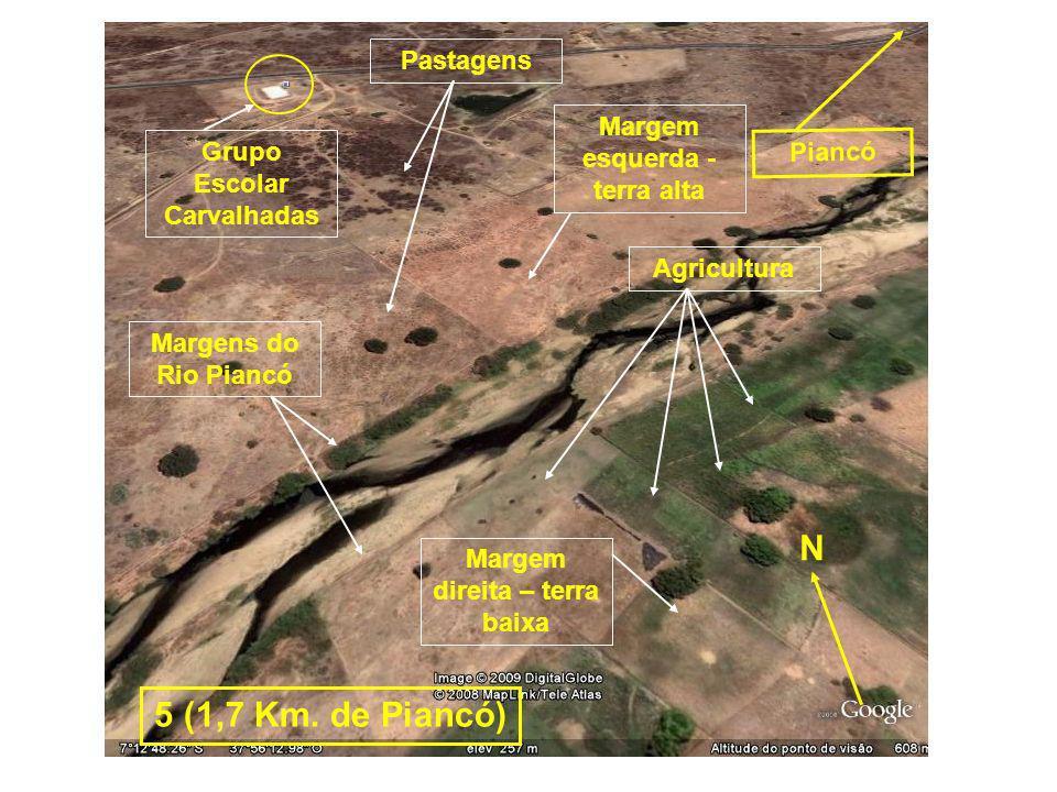 N 5 (1,7 Km. de Piancó) Pastagens Margem esquerda - terra alta