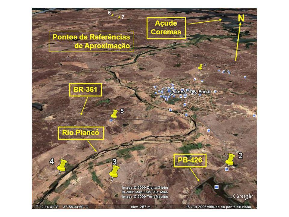N Açude Coremas Pontos de Referências de Aproximação BR-361 Rio Piancó