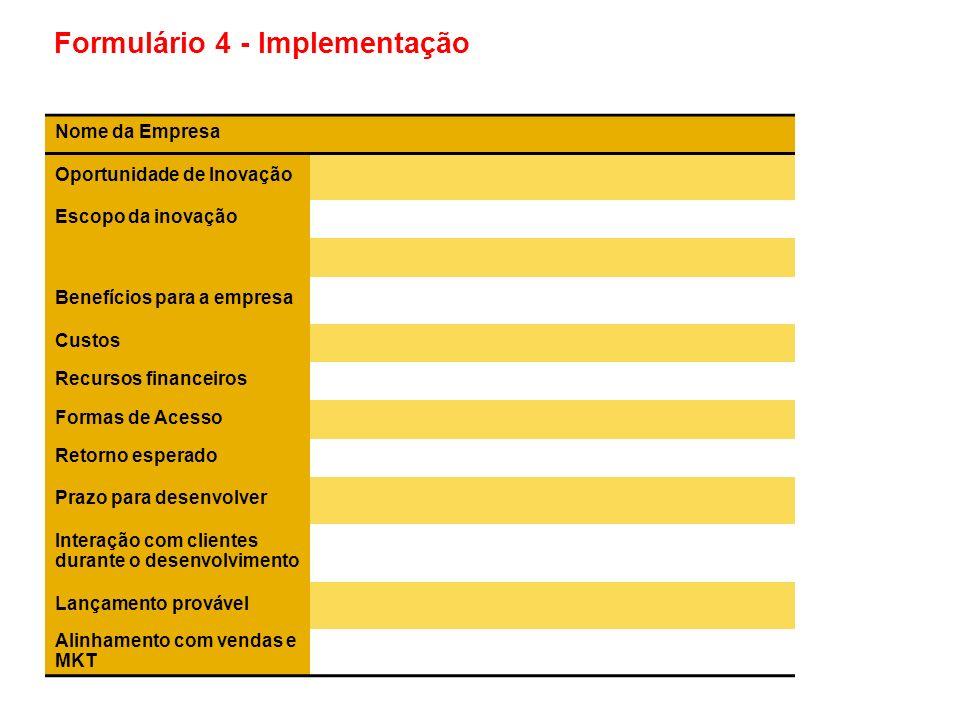 Formulário 4 - Implementação