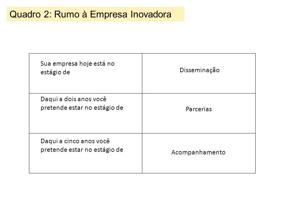 Quadro 2: Rumo à Empresa Inovadora