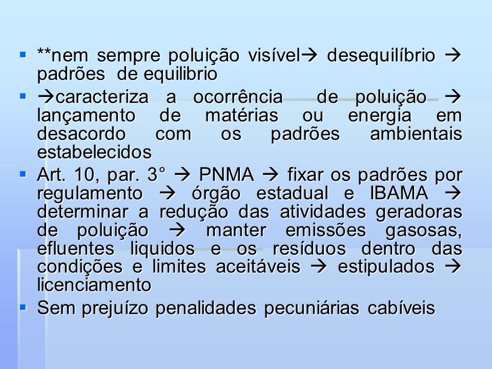 **nem sempre poluição visível desequilíbrio  padrões de equilibrio