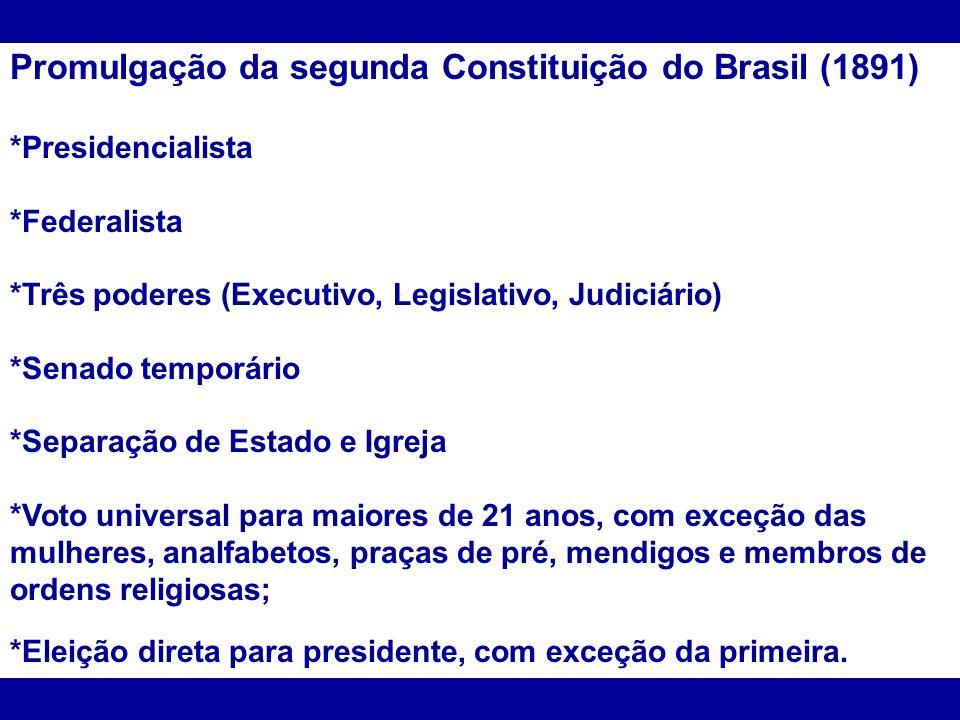 Promulgação da segunda Constituição do Brasil (1891)