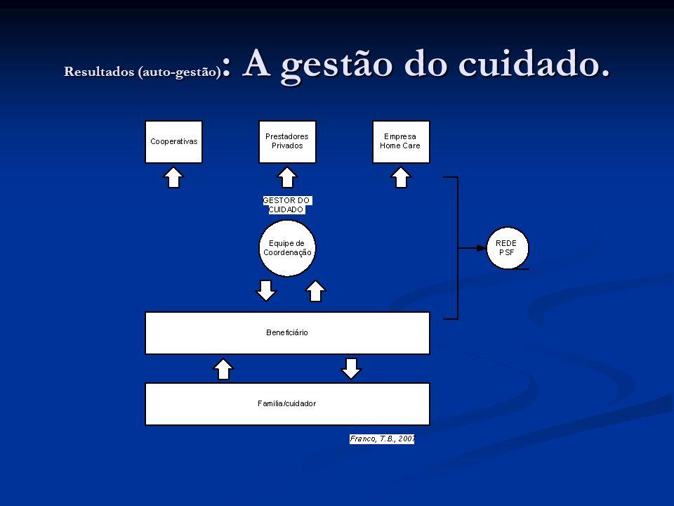 Resultados (auto-gestão): A gestão do cuidado.