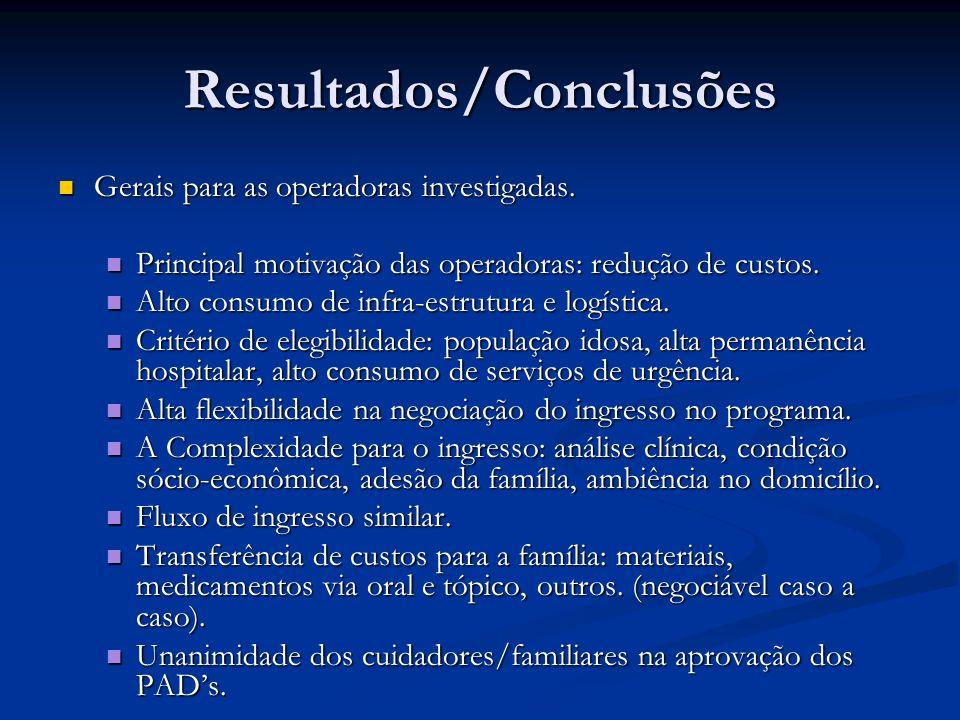 Resultados/Conclusões