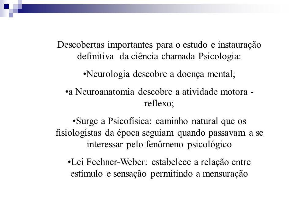 Neurologia descobre a doença mental;