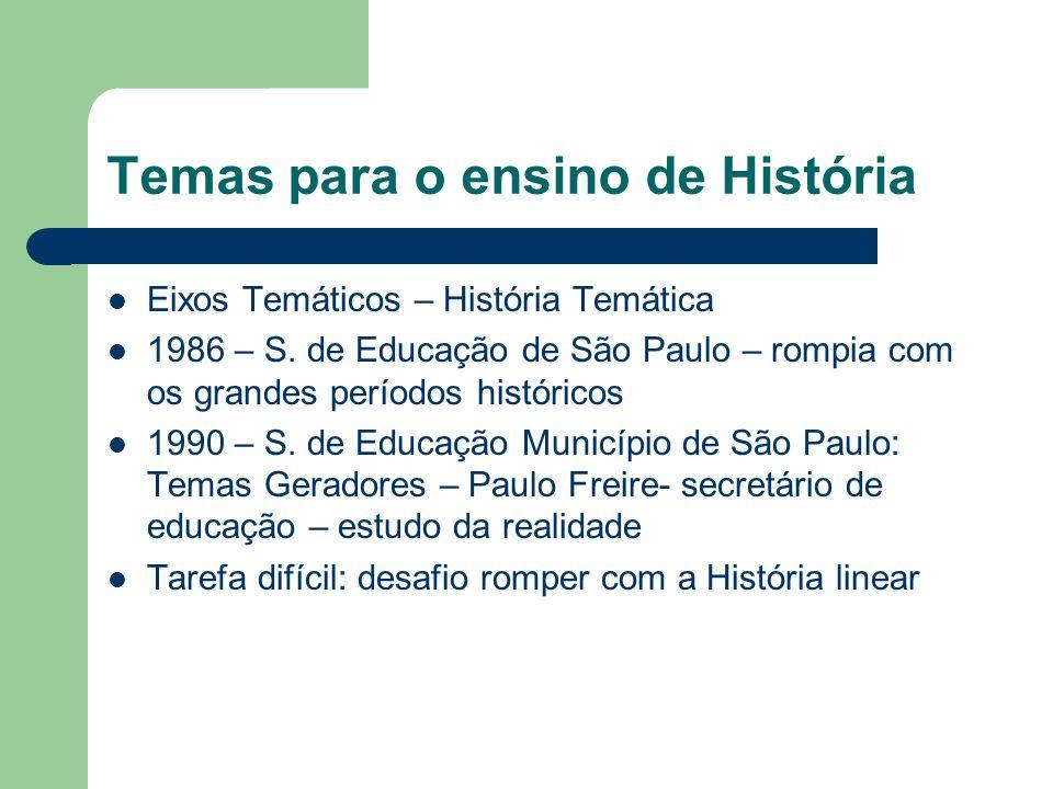 Temas para o ensino de História