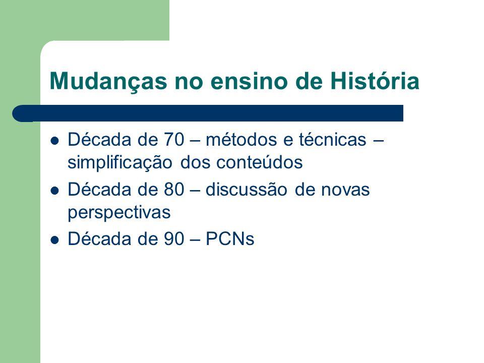 Mudanças no ensino de História