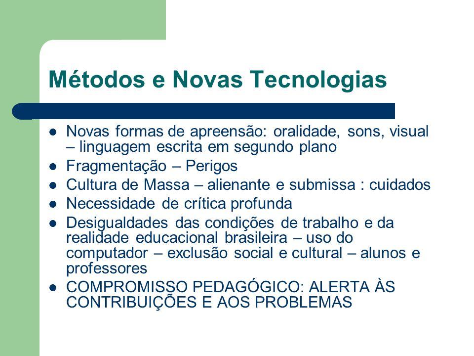 Métodos e Novas Tecnologias