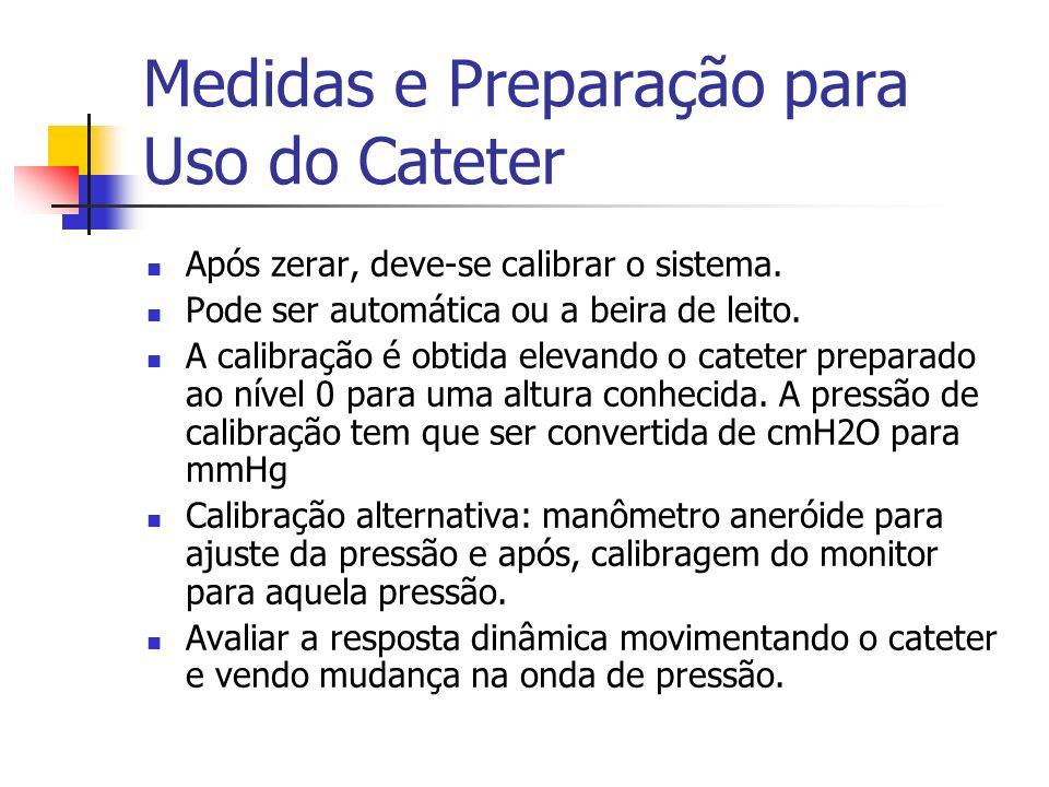 Medidas e Preparação para Uso do Cateter