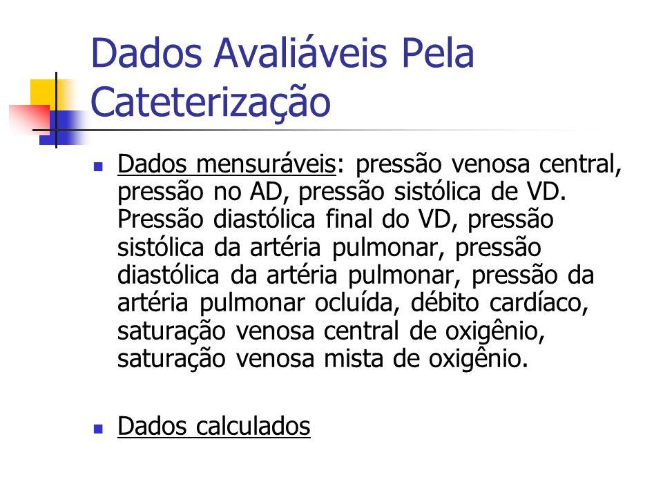 Dados Avaliáveis Pela Cateterização