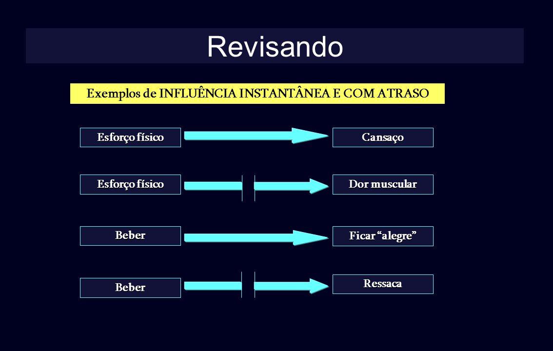 Exemplos de INFLUÊNCIA INSTANTÂNEA E COM ATRASO