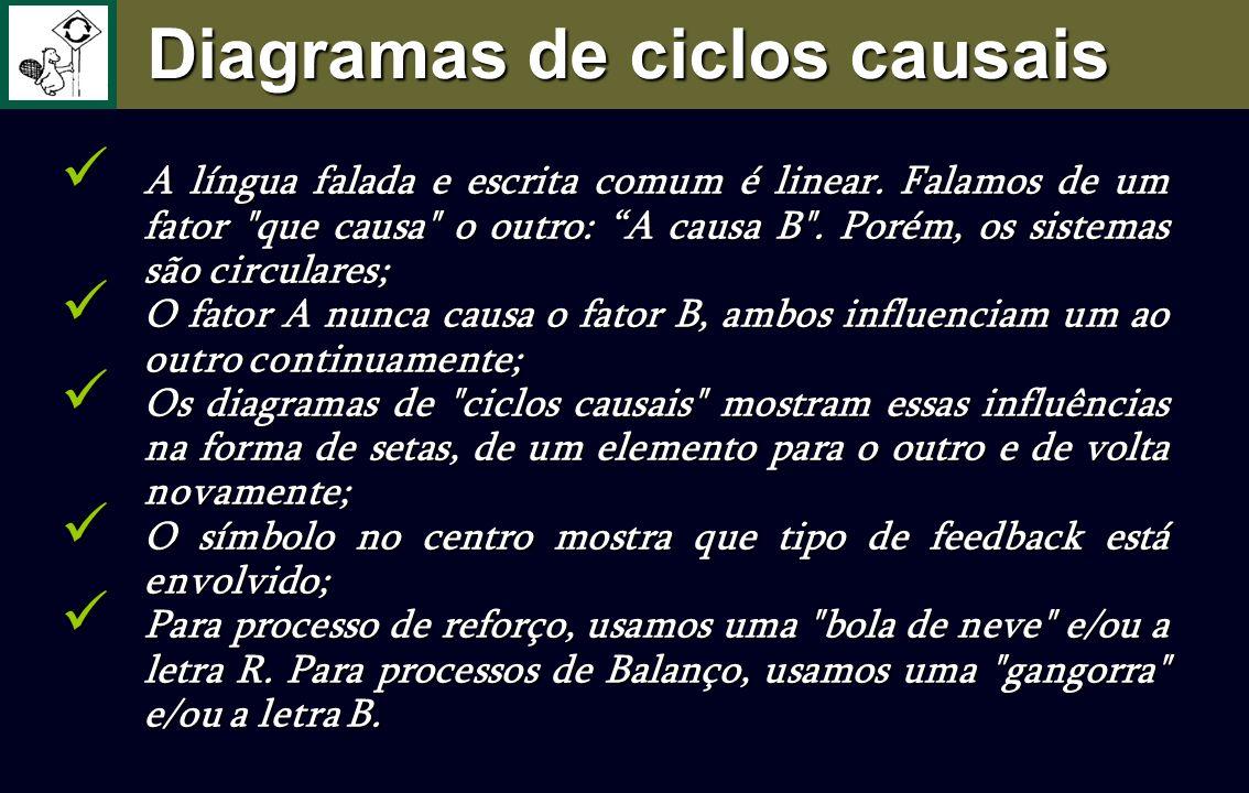 Diagramas de ciclos causais