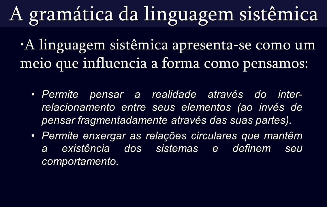 A gramática da linguagem sistêmica