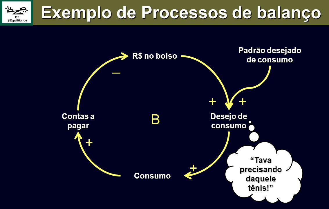 Exemplo de Processos de balanço Padrão desejado de consumo