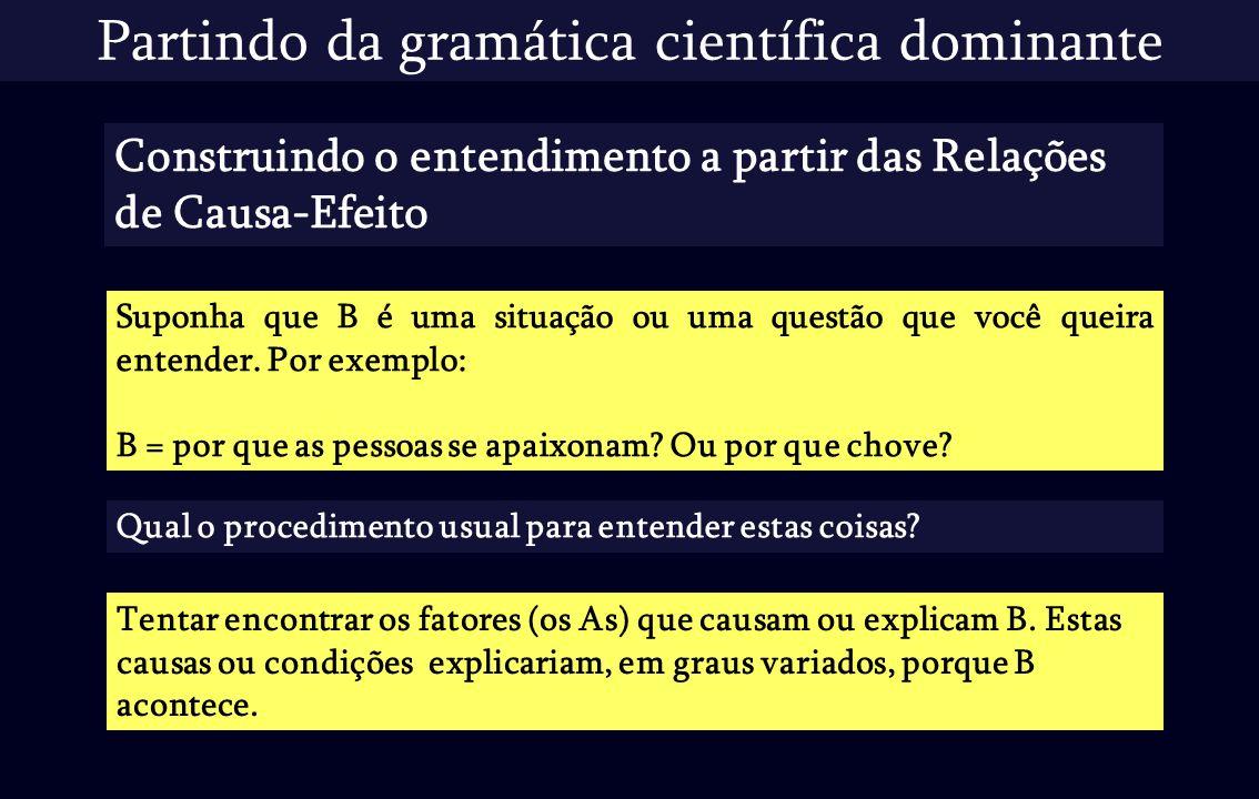 Partindo da gramática científica dominante