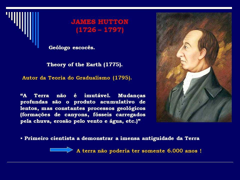 JAMES HUTTON (1726 – 1797) Geólogo escocês.