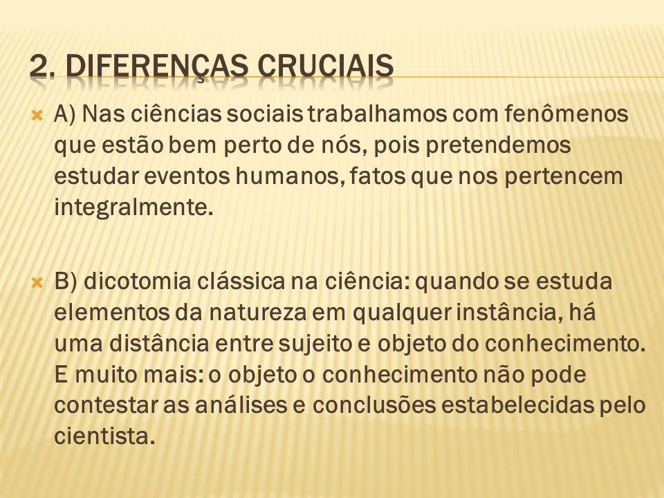 2. Diferenças cruciais