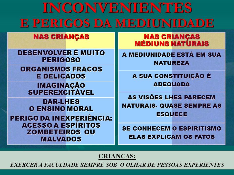 INCONVENIENTES E PERIGOS DA MEDIUNIDADE