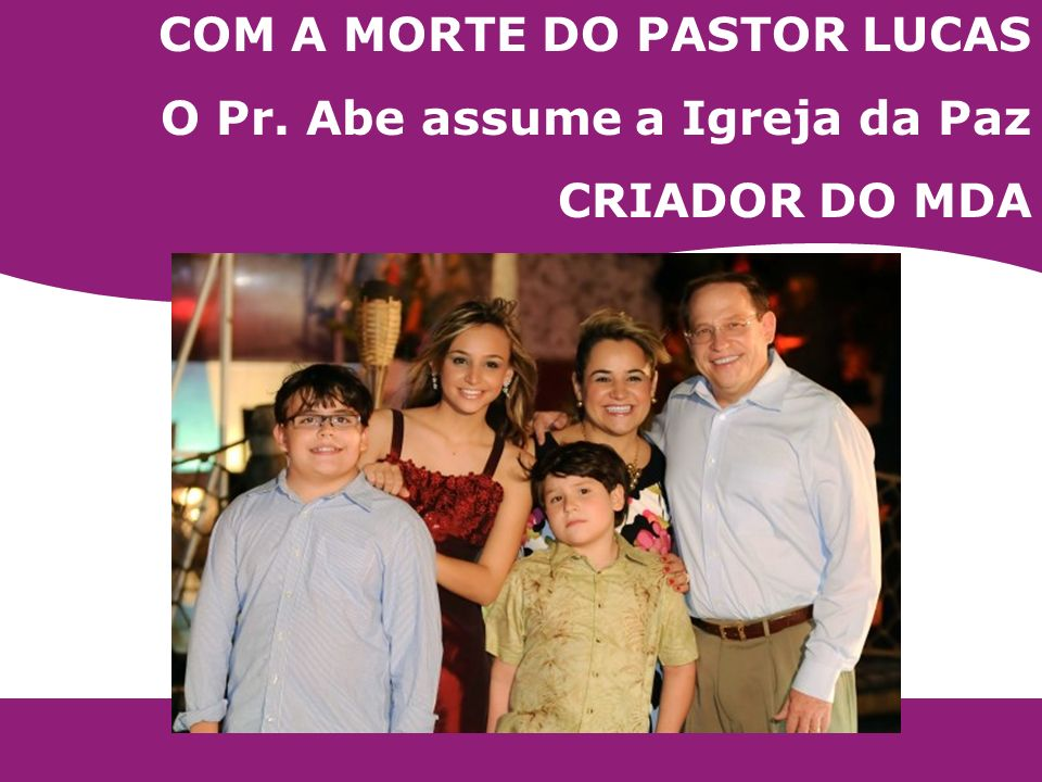 COM A MORTE DO PASTOR LUCAS