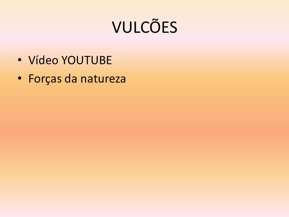 VULCÕES Vídeo YOUTUBE Forças da natureza