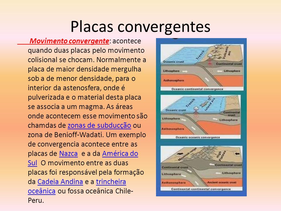 Placas convergentes