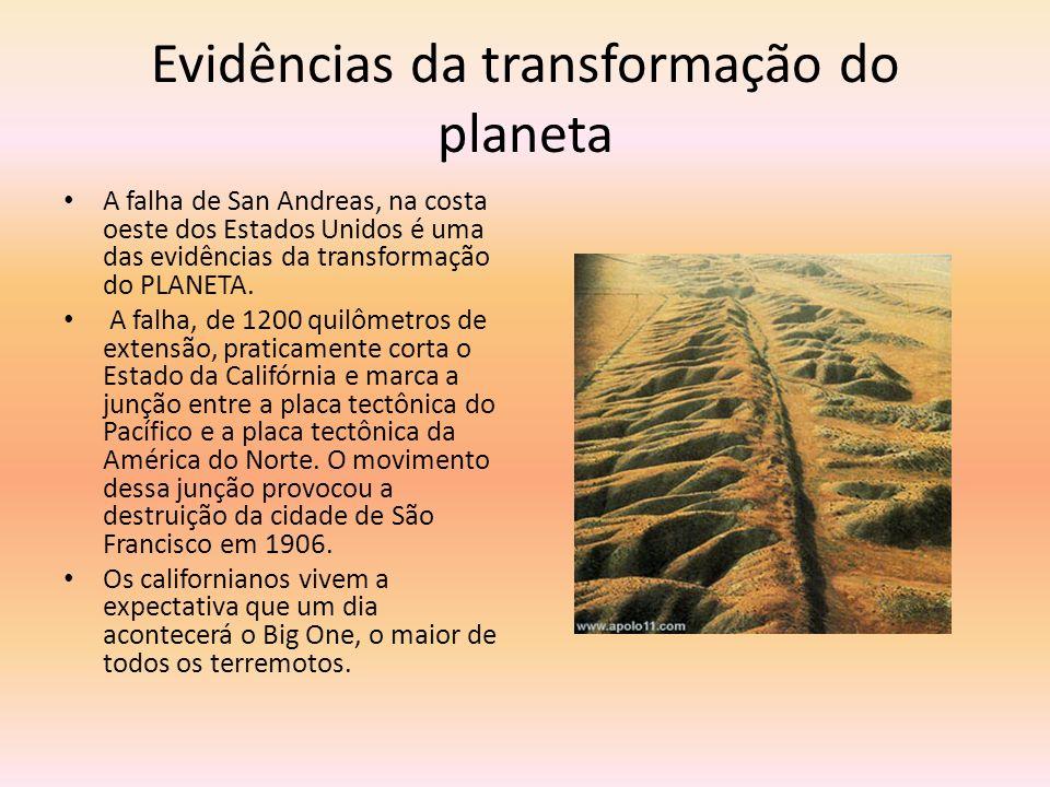 Evidências da transformação do planeta