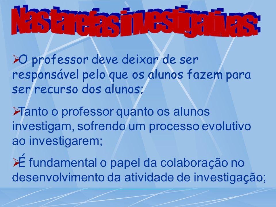 Nas tarefas investigativas: