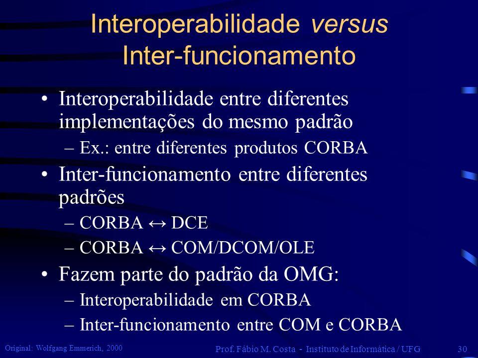 Interoperabilidade versus Inter-funcionamento