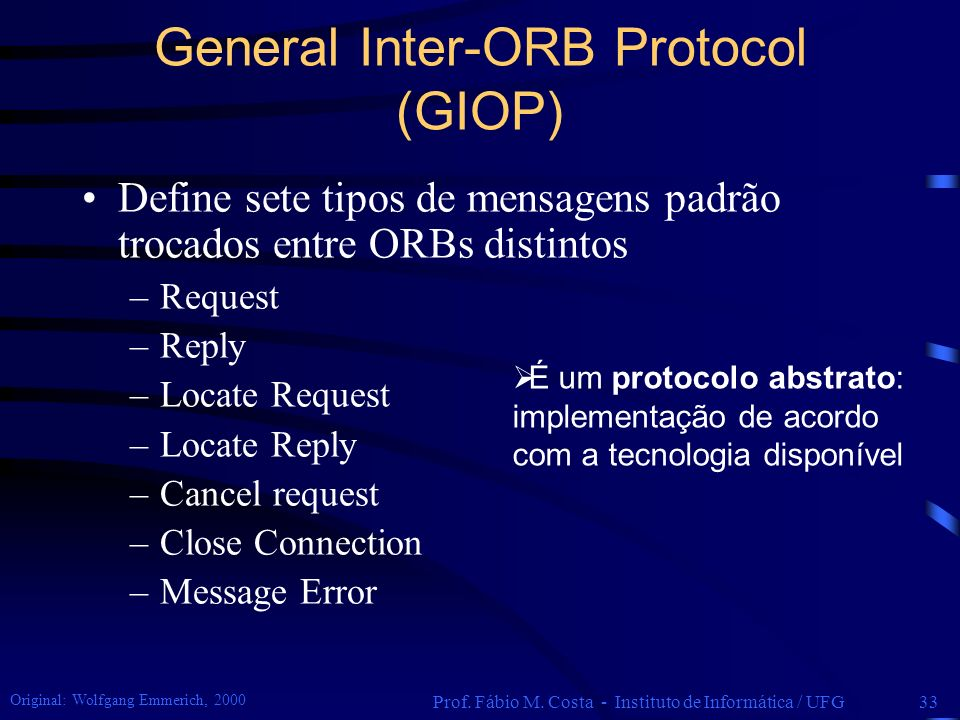 General Inter-ORB Protocol (GIOP)