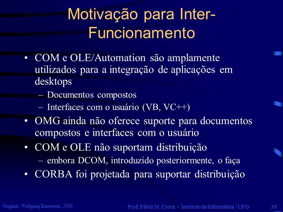 Motivação para Inter-Funcionamento