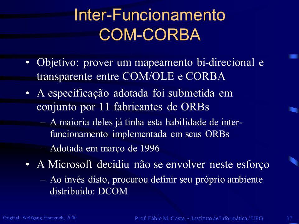 Inter-Funcionamento COM-CORBA