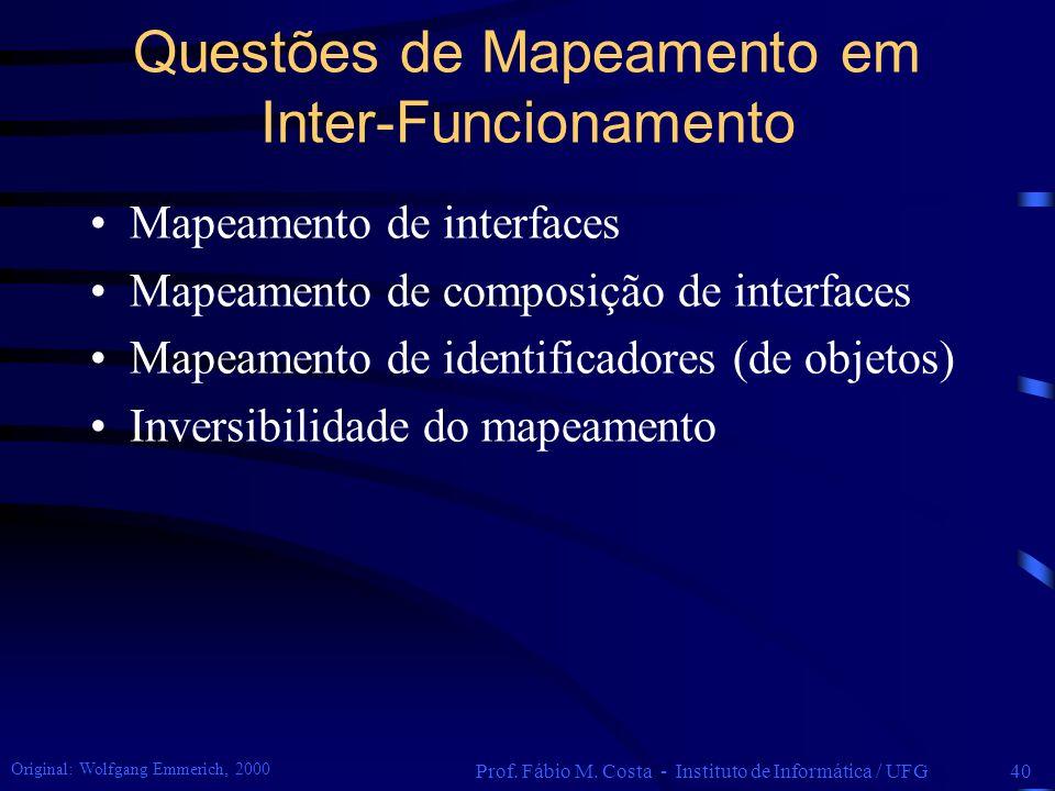 Questões de Mapeamento em Inter-Funcionamento