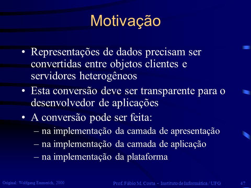 Prof. Fábio M. Costa - Instituto de Informática / UFG