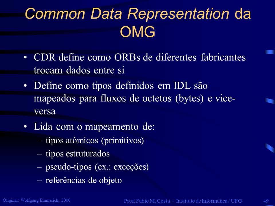Common Data Representation da OMG