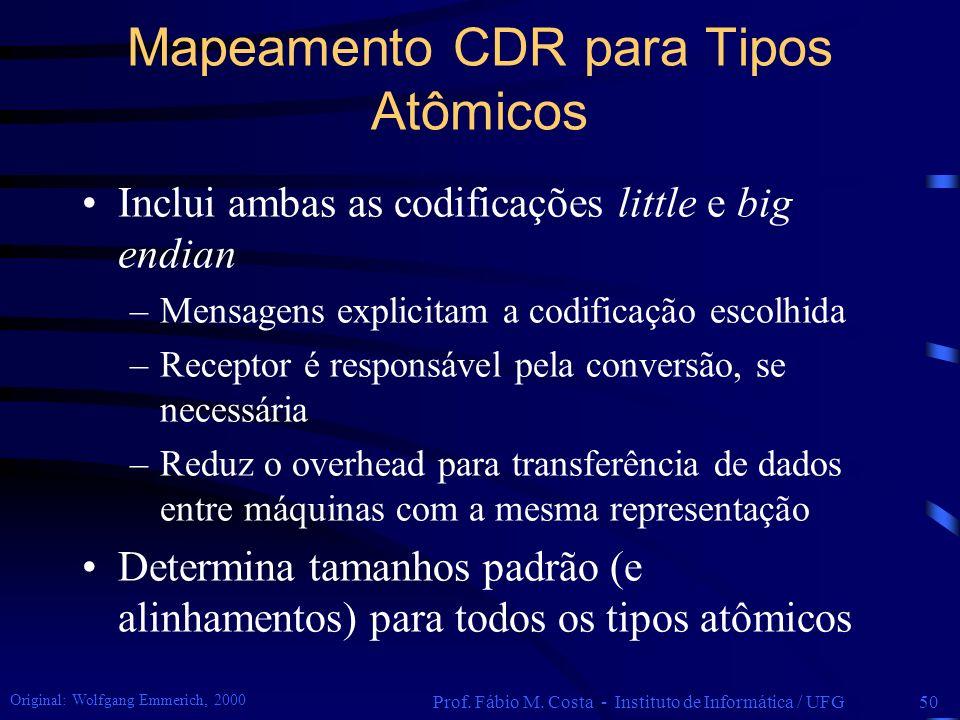 Mapeamento CDR para Tipos Atômicos