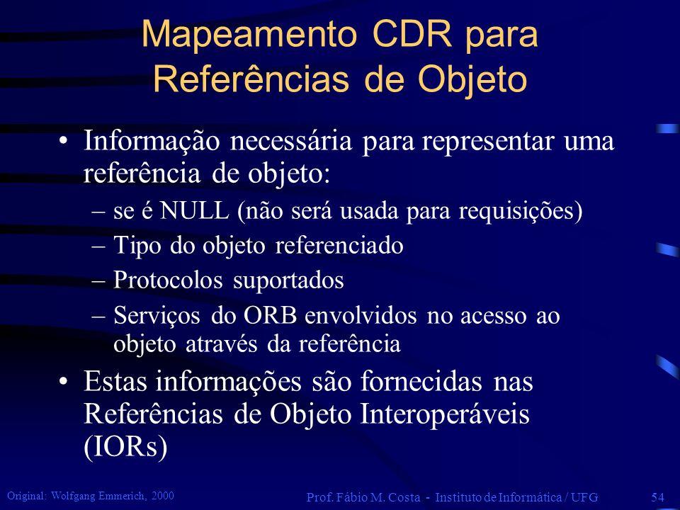 Mapeamento CDR para Referências de Objeto