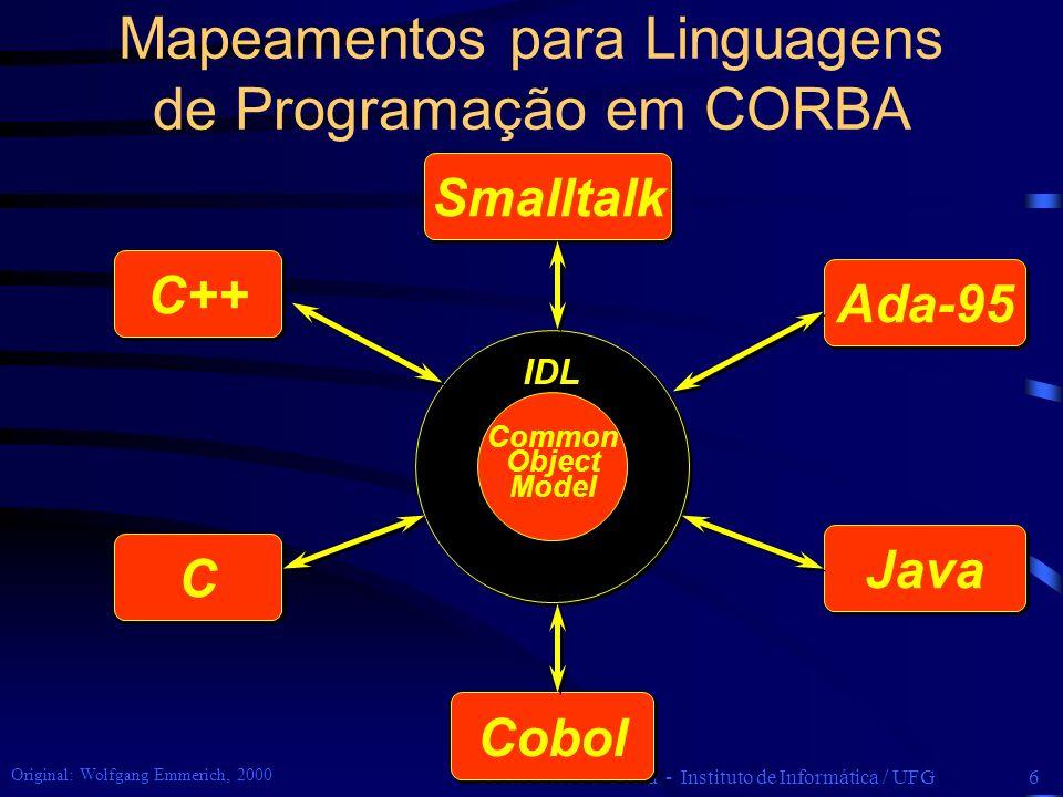 Mapeamentos para Linguagens de Programação em CORBA