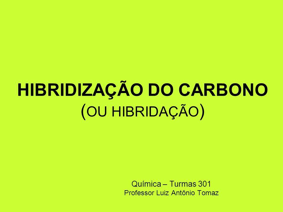 HIBRIDIZAÇÃO DO CARBONO (OU HIBRIDAÇÃO)