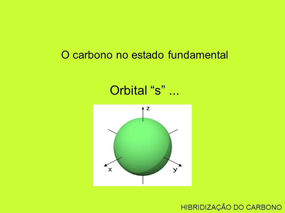 O carbono no estado fundamental