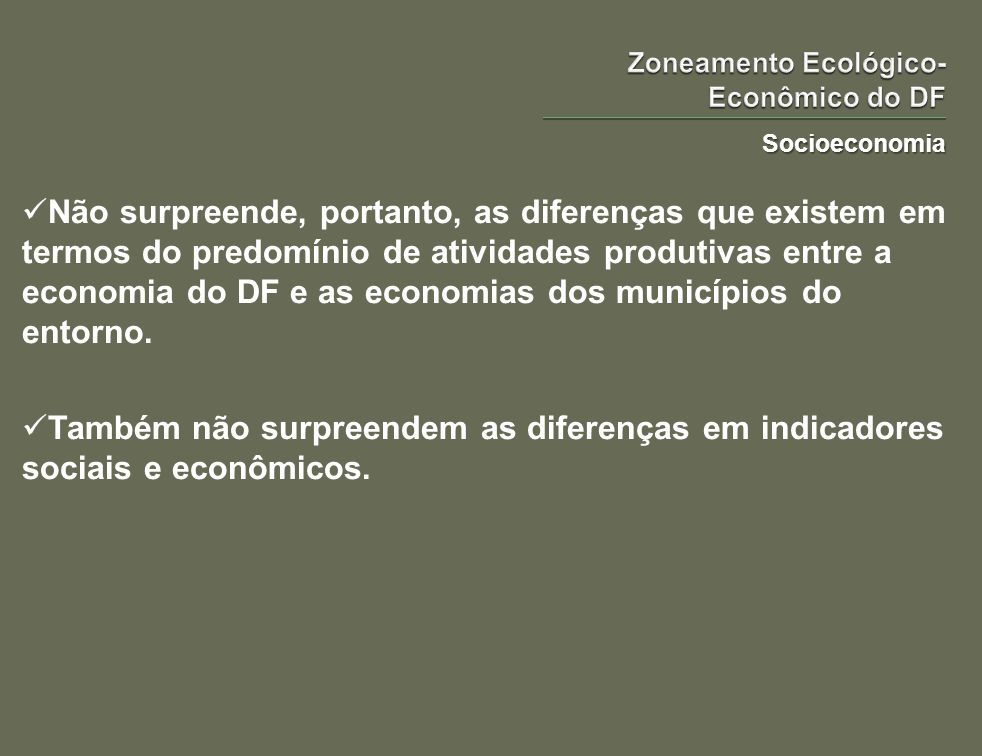 Zoneamento Ecológico-Econômico do DF