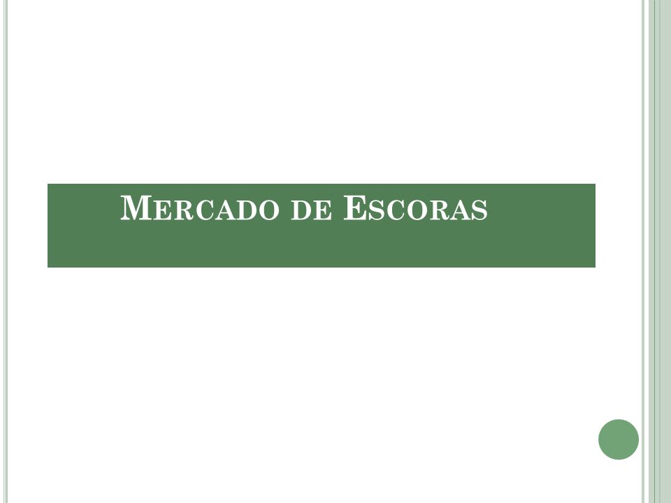 Mercado de Escoras