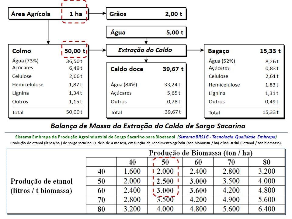 Sistema Embrapa de Produção Agroindustrial de Sorgo Sacarino para Bioetanol (Sistema BRS1G - Tecnologia Qualidade Embrapa)