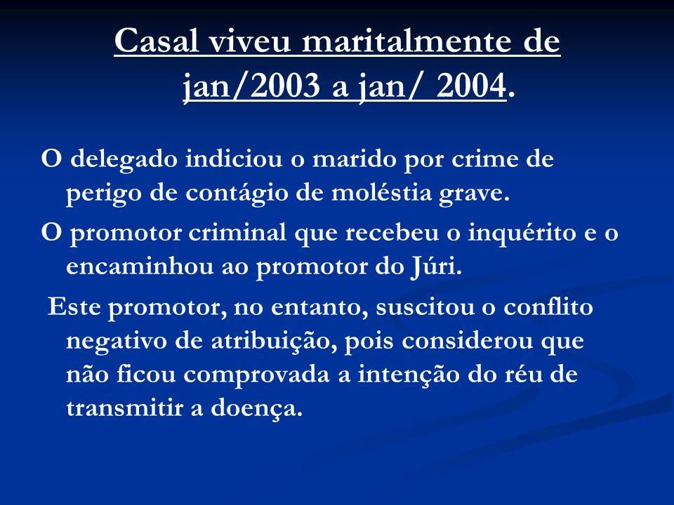 Casal viveu maritalmente de jan/2003 a jan/ 2004.