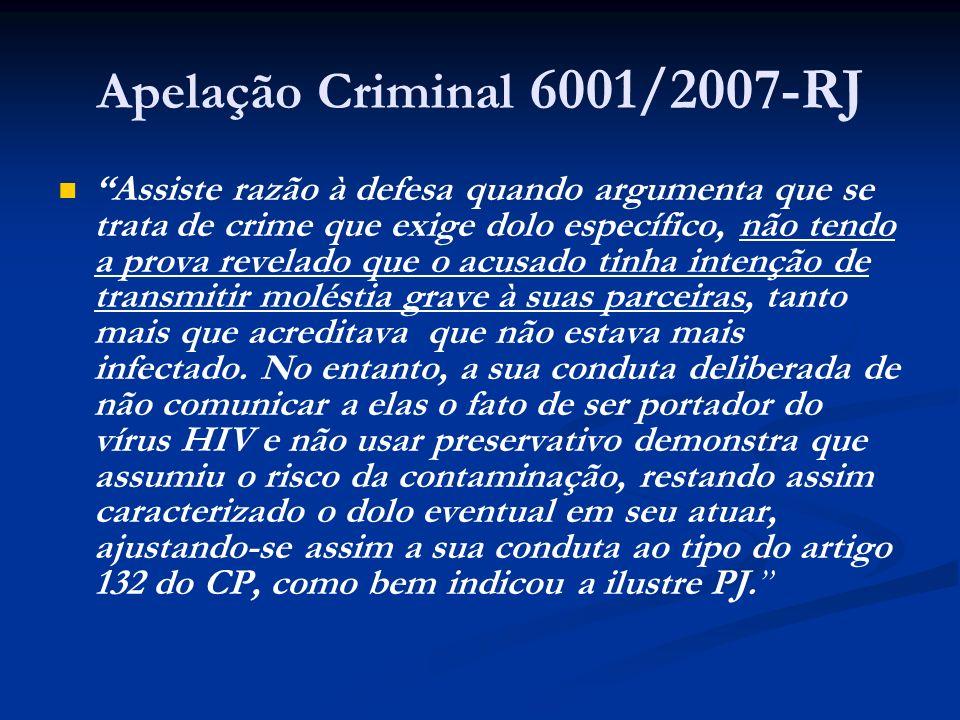 Apelação Criminal 6001/2007-RJ