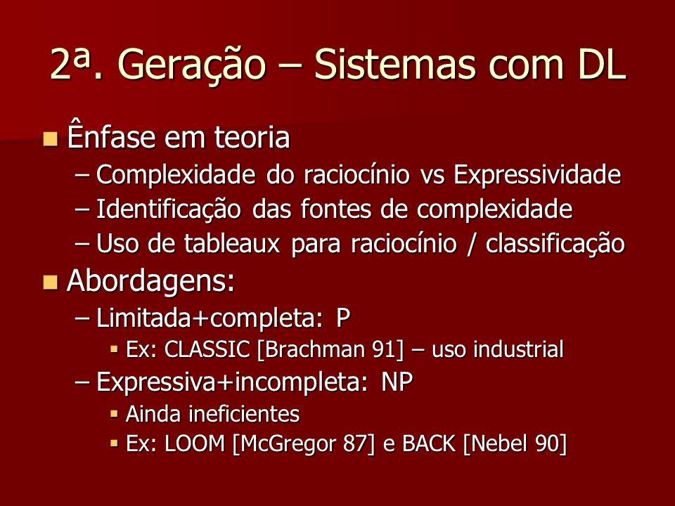 2ª. Geração – Sistemas com DL