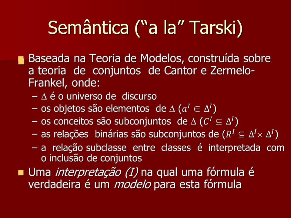 Semântica ( a la Tarski)