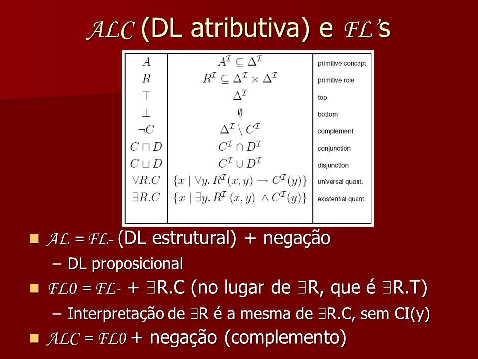 ALC (DL atributiva) e FL's