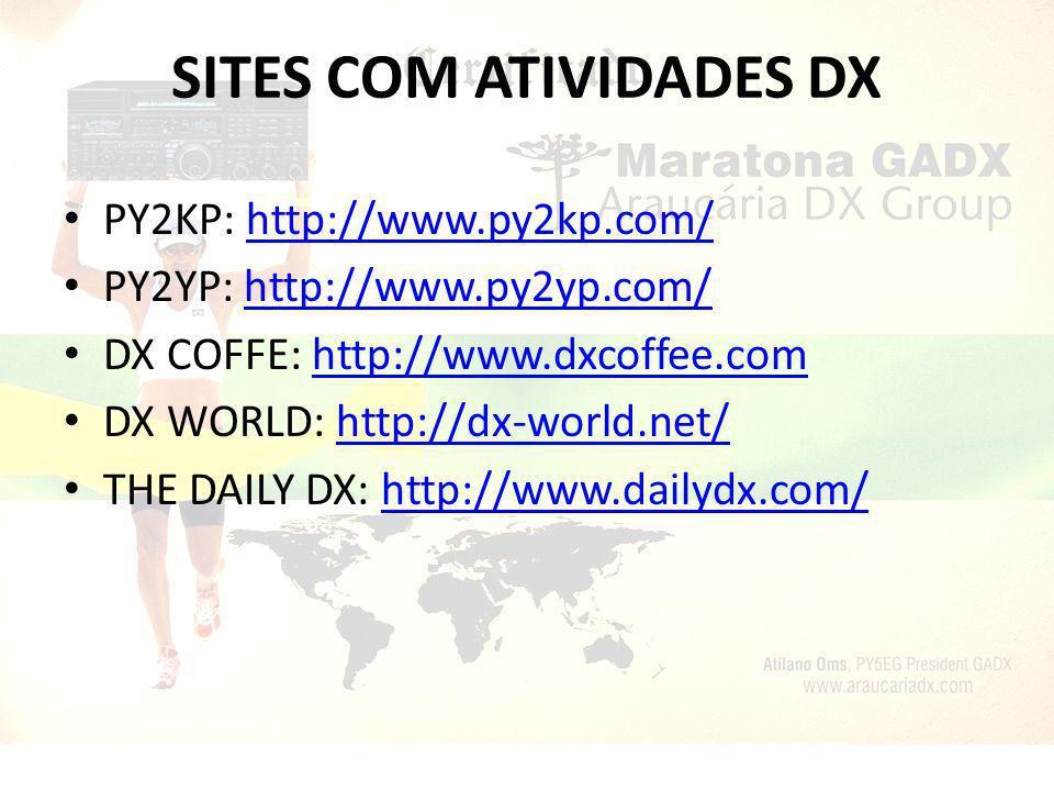 SITES COM ATIVIDADES DX