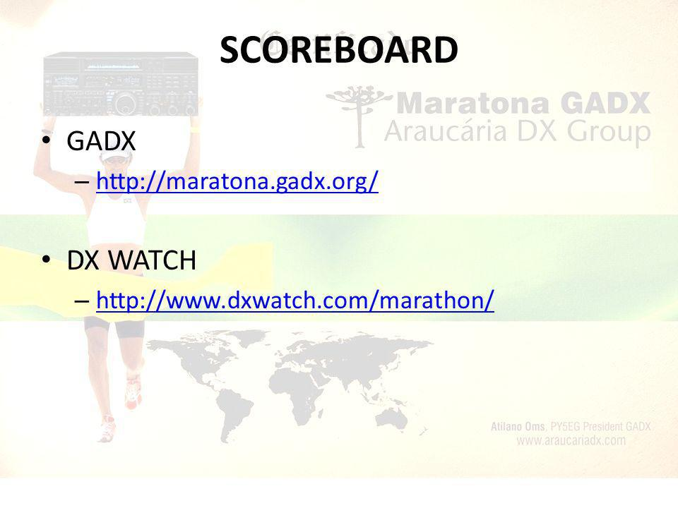 SCOREBOARD GADX DX WATCH http://maratona.gadx.org/