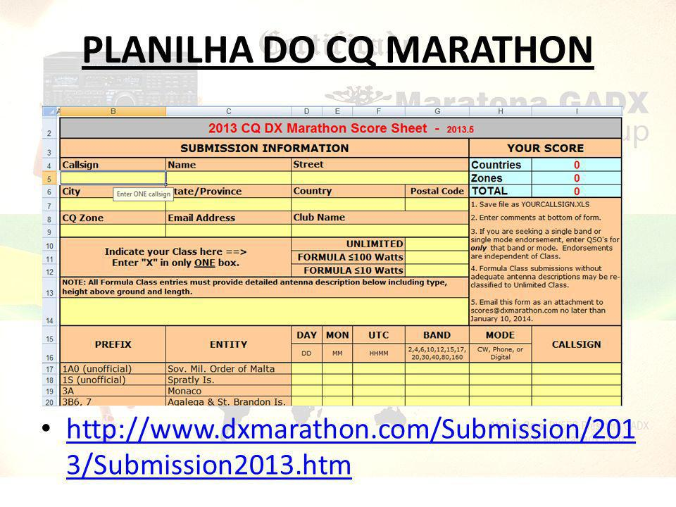 PLANILHA DO CQ MARATHON